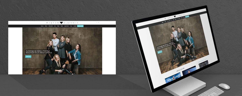 Oblikovanje spletnih strani mister slovenije