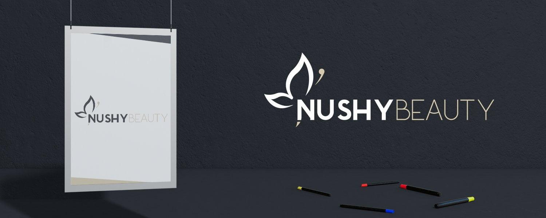 Oblikovanje logotipa nushybeauty