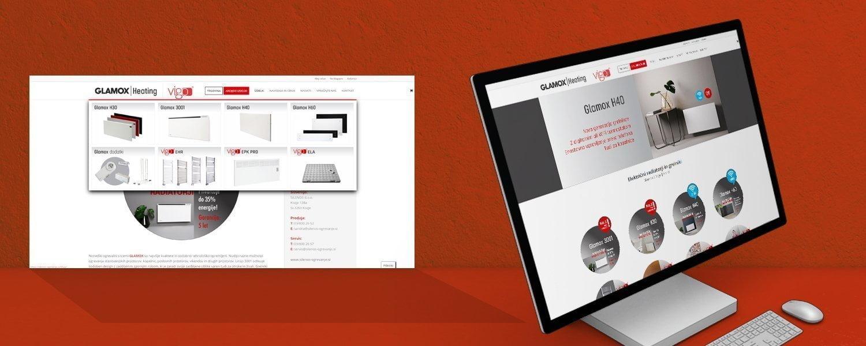 Oblikovanje spletne trgovine glamox