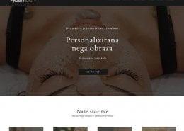Oblikovanje spletnih strani nushybeauty