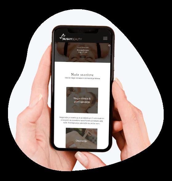 Mobilni prikaz spletne strani