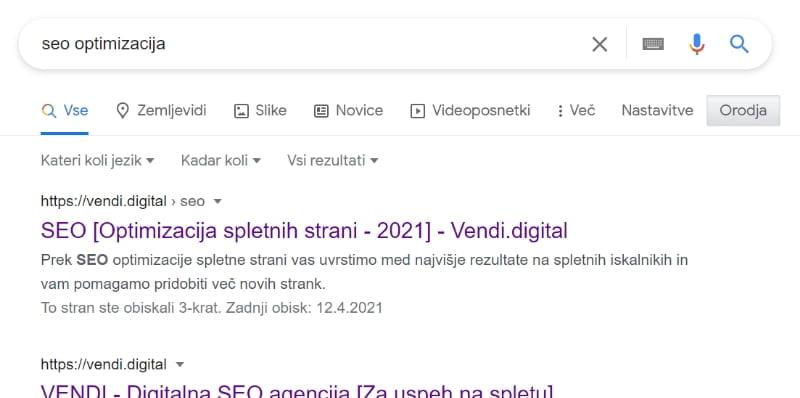 Optimizirane spletne strani